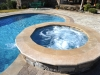 Raised Spa, combined pool and spa,