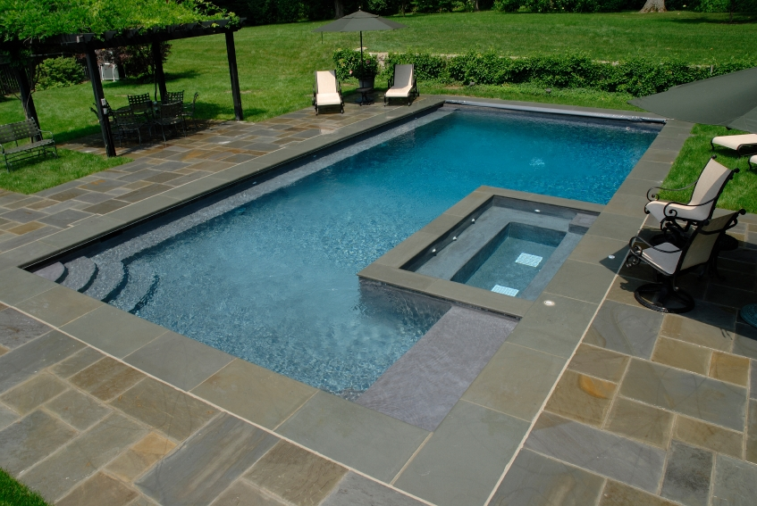 Superbe Flagstone Pool Coping