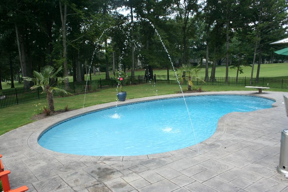 Louisville gunite pools photos gatlinburg for Pool jets design