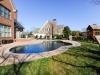 custom freeform pool, gunite pool