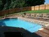 Custom Swimming Pool with Tanning Deck and Ledge