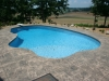 Freeform Pool with Slate Decking