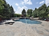Pool with Rock Waterfall and Flagstone Decking