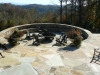 Custom fire pit with seating